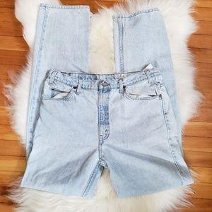 Vintage plus size light wash Levi's 505 mom jeans